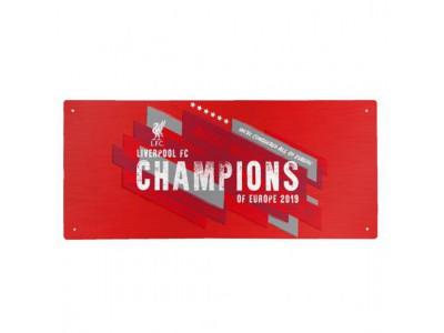 Liverpool skilt - LFC Champions Of Europe Street Sign