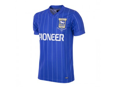 Ipswich Town trøje - 1981 - 82 Short Sleeve Retro Football Shirt