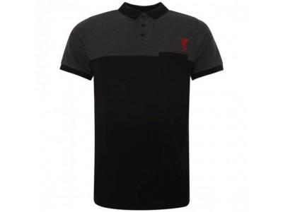 Liverpool polo - LFC Block Polo Shirt Mens Black M