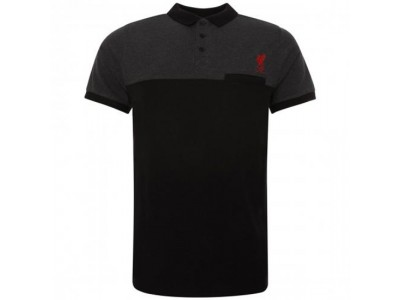 Liverpool polo - LFC Block Polo Shirt Mens Black XL