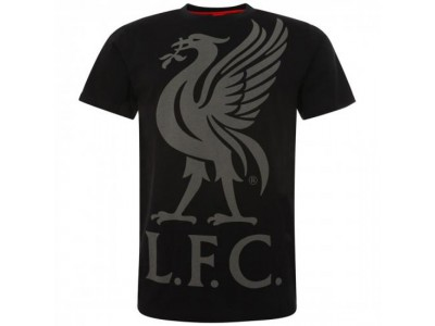 Liverpool t-shirt - LFC Liverbird T Shirt Mens Black - Large