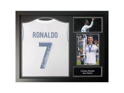 Real Madrid FC Ronaldo Signed Shirt (Framed)