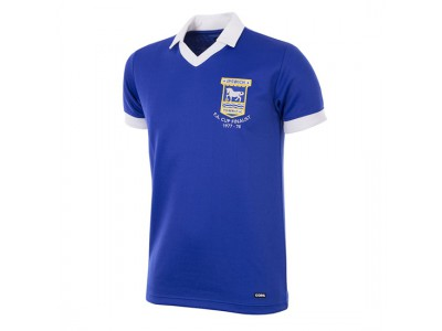 Ipswich Town trøje - 1977 - 78 Short Sleeve Retro Football Shirt
