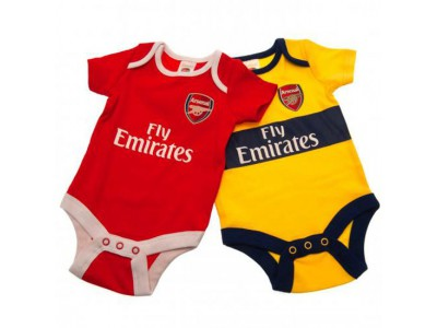 Arsenal baby - AFC 2 Pack Bodysuit 9/12 Months YL