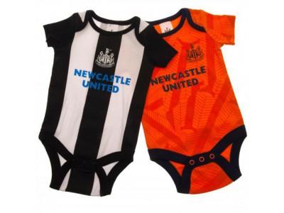 Newcastle United sparkedragt - 2 Pack Bodysuit 3/6 Months OR