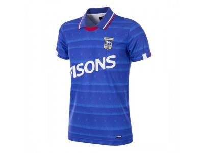 Ipswich Town trøje - 1991 - 92 Short Sleeve Retro Football Shirt