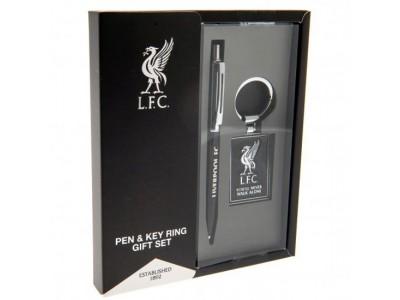 Liverpool kuglepen og nøglering - LFC Pen & Keyring Set