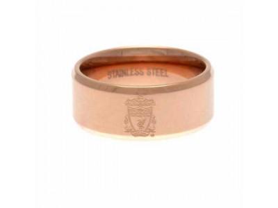 Liverpool ring - LFC Rose Gold Plated Ring - Medium