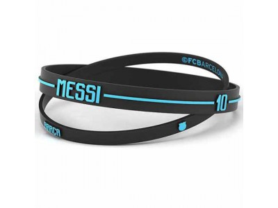 FC Barcelona armbånd - 2pk Silicone Wristbands Messi Adults