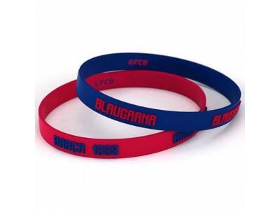 FC Barcelona armbånd - Barca 2pk Silicone Wristbands