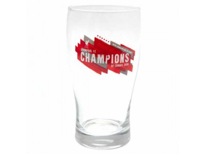 Liverpool glas - LFC Champions of Europe Tulip Pint Glass