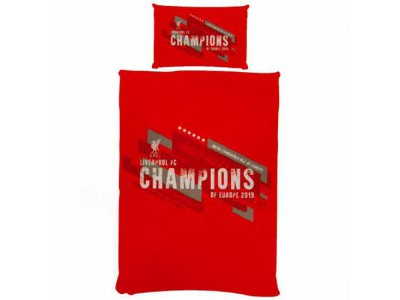 Liverpool sengetøj - LFC Champions of Europe Single Duvet Set