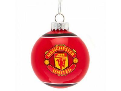 Manchester United julekugle - MUFC Glass Bauble