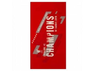 Liverpool håndklæde - LFC Champions of Europe Towel