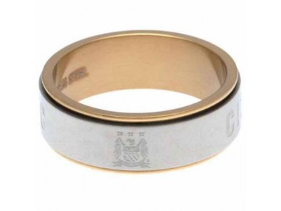 Manchester City ring - MCFC Bi Colour Spinner Ring XXX-Large