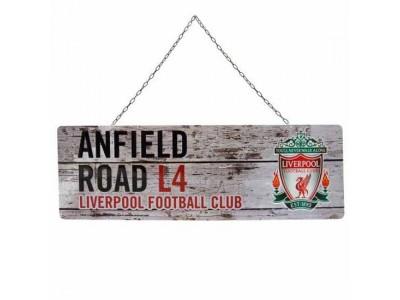 Liverpool skilt - LFC Rustic Garden Sign
