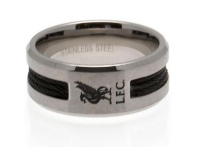 Liverpool ring - LFC Black Inlay Ring - Medium