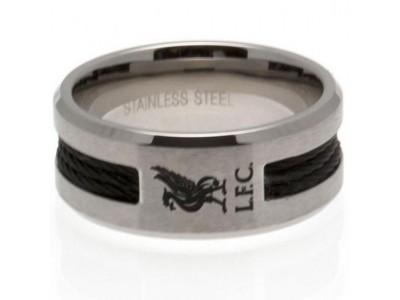 Liverpool ring - LFC Black Inlay Ring - Medium