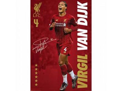 Liverpool plakat - LFC Poster Van Dijk 14