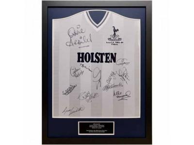 Tottenham Hotspur trøje - 1984 UEFA Cup Final Signed Shirt Framed