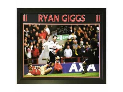 Manchester United trøje autograf Giggs Signed Framed Print