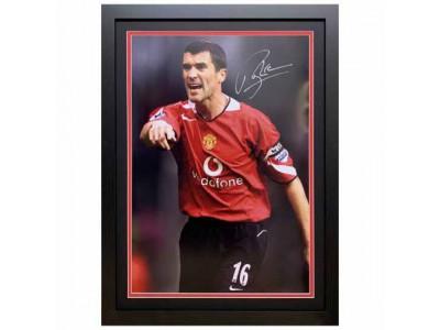 Manchester United trøje autograf Keane Signed Framed Print