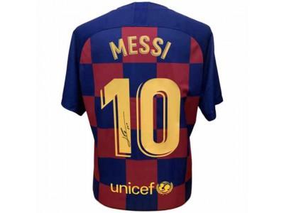 FC Barcelona trøje autograf Messi Signed Shirt 19-20