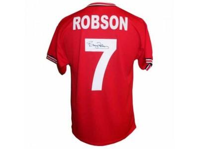 Manchester United trøje autograf - MUFC Robson Signed Shirt