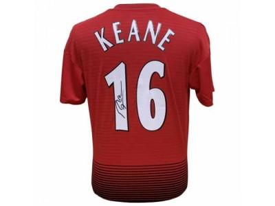 Manchester United trøje autograf - MUFC Keane Signed Shirt