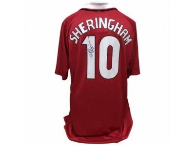 Manchester United trøje autograf - MUFC Sheringham Signed Shirt