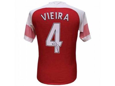 Arsenal trøje autograf - AFC Vieira Signed Shirt