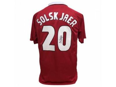 Manchester United trøje autograf - MUFC Solskjaer Signed Shirt