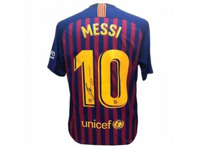 FC Barcelona trøje autograf Messi Signed Shirt 18-19
