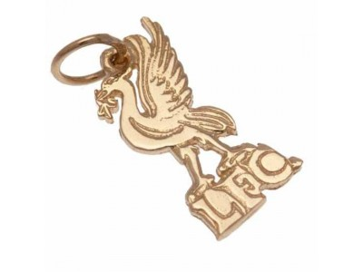 Liverpool guld smykke - LFC 9ct Gold Pendant Liverbird Small