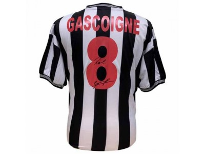 Newcastle trøje - NUFC Gascoigne Signed Shirt