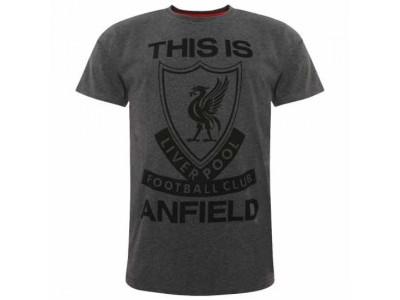 Liverpool t-shirt - LFC TIA T Shirt Mens Charcoal - S