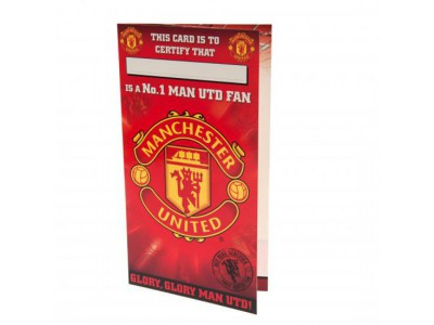 Manchester United kort - Birthday Card No 1 Fan