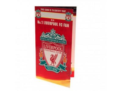 Liverpool FC fødselsdagskort - Birthday Card No 1 Fan