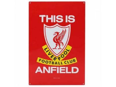 Liverpool metal skilt - LFC TIA Large Metal Sign