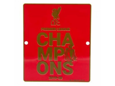 Liverpool skilt - LFC Premier League Champions Window Sign