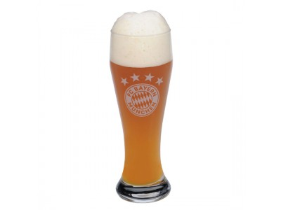 FC Bayern Munchen ølglas - FCB Beer Glass Logo (whitebier)