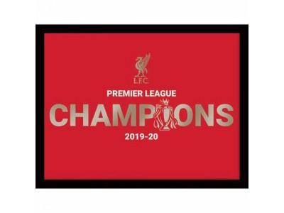 Liverpool billede - LFC Premier League Champions Metallic Picture 16 x 12