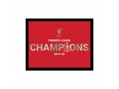 Liverpool billede - LFC Premier League Champions Metallic Picture 10 x 8