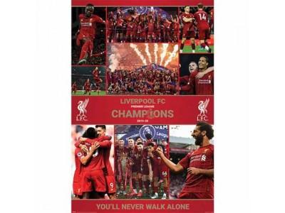 Liverpool plakat - LFC Premier League Champions Poster Season 12