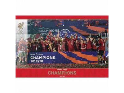 Liverpool plakat - LFC Premier League Champions Poster Trophy Lift 15