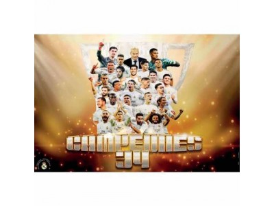 Real Madrid plakat - RMCF Poster Campeones 34