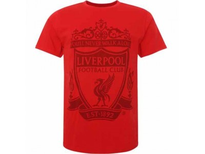Liverpool t-shirt - LFC Crest T Shirt Mens Red str. XL