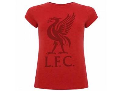 Liverpool t-shirt - LFC Liverbird T Shirt Ladies Red 8
