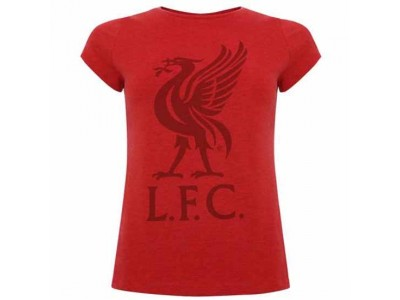 Liverpool t-shirt - LFC Liverbird T Shirt Ladies Red 12