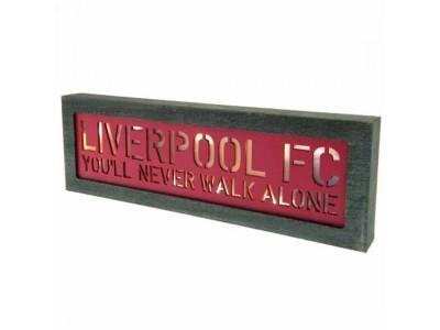 Liverpool skilt - LFC Light Up Wooden Sign
